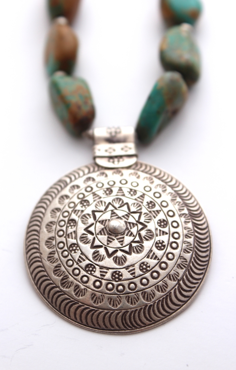 products teal buttons mandala img necklace oh