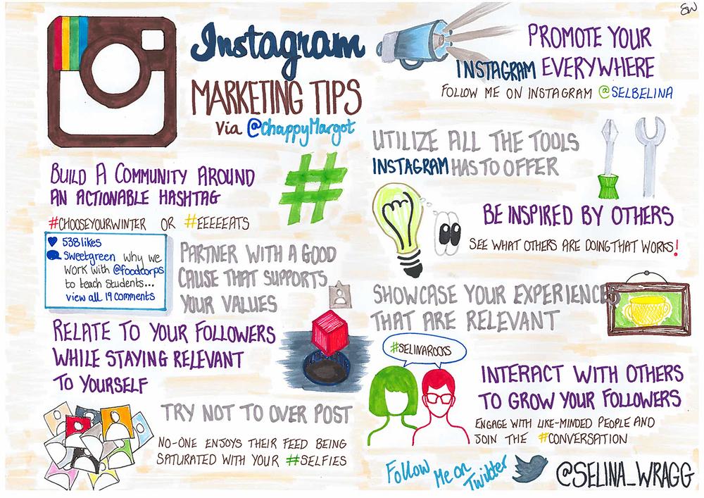 Instagram Marketing Tips Sketchnote