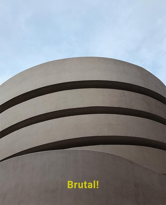 Guggenheim Brutalist Architecture