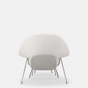 Womb Lounge Chair womb lounge chair and ottoman, white — artefakt