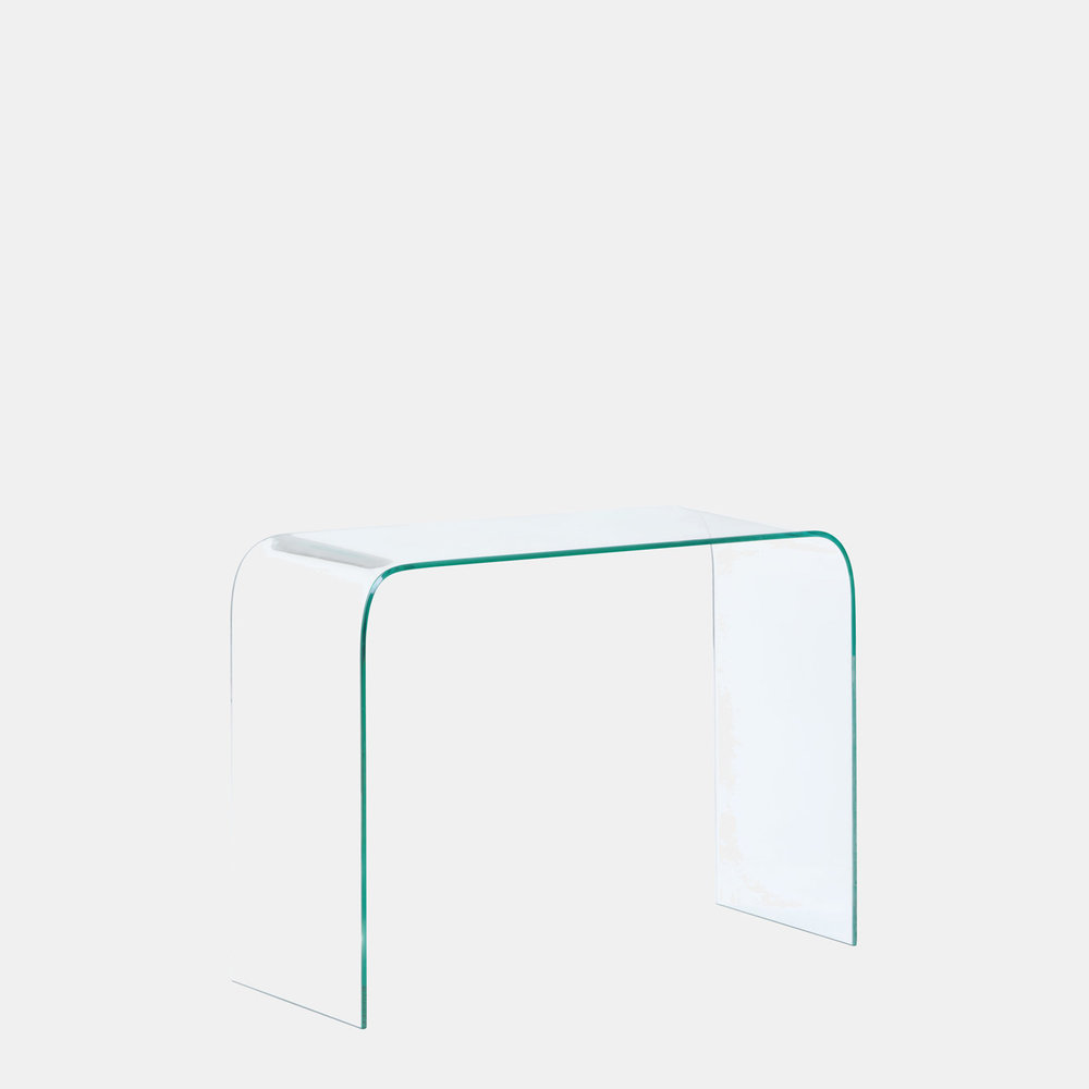 Mecca Tempered Glass Console Table