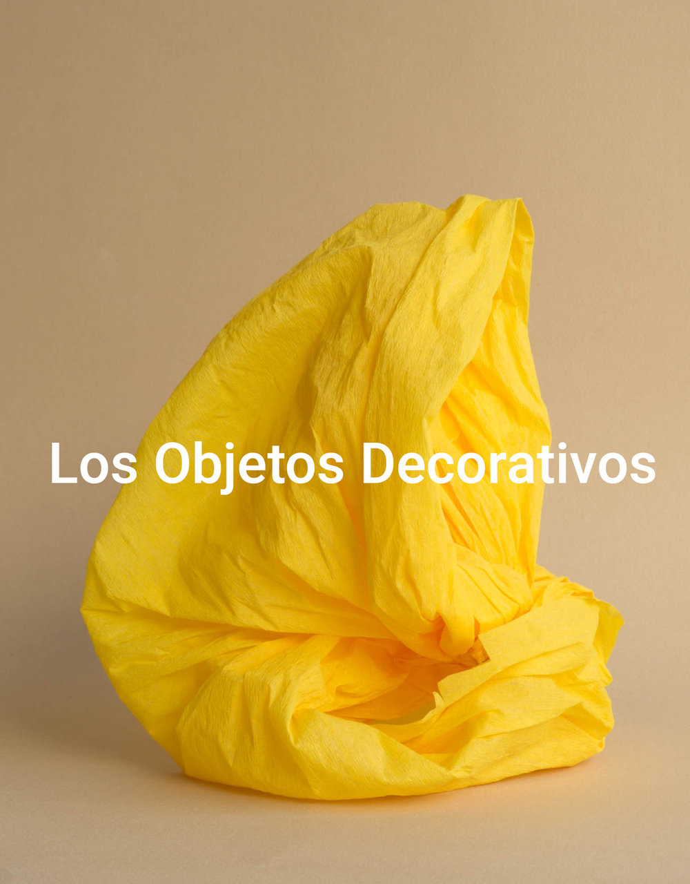 Los Objetos Decorativos - The Barcelona-based design studio by artist Rosa Rubio creates elegant, minimalist imagery through the visual exploration of handcrafted objects.