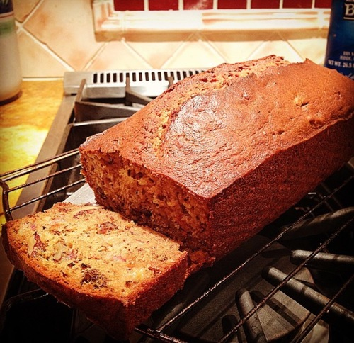 Banana bread with dessert wine the wine chef whisk together flour baking soda and salt mix together well with butter sugar and egg mixture stir in bananas sour cream vanilla and walnuts forumfinder Image collections