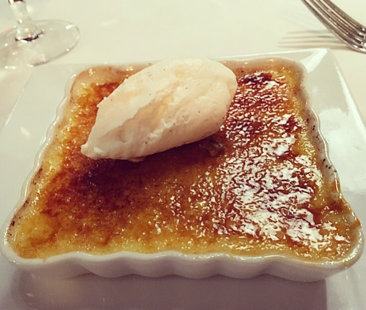 One of the best creme brulees in Manhattan!  Served with vanilla bean ice cream.