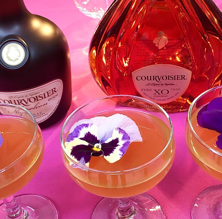 A delicious cocktail made from  Courvoisier  Cognac