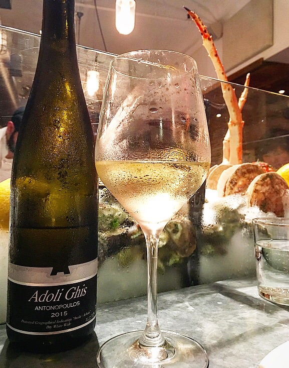 This Greek wine was a perfect accompaniment to the oysters