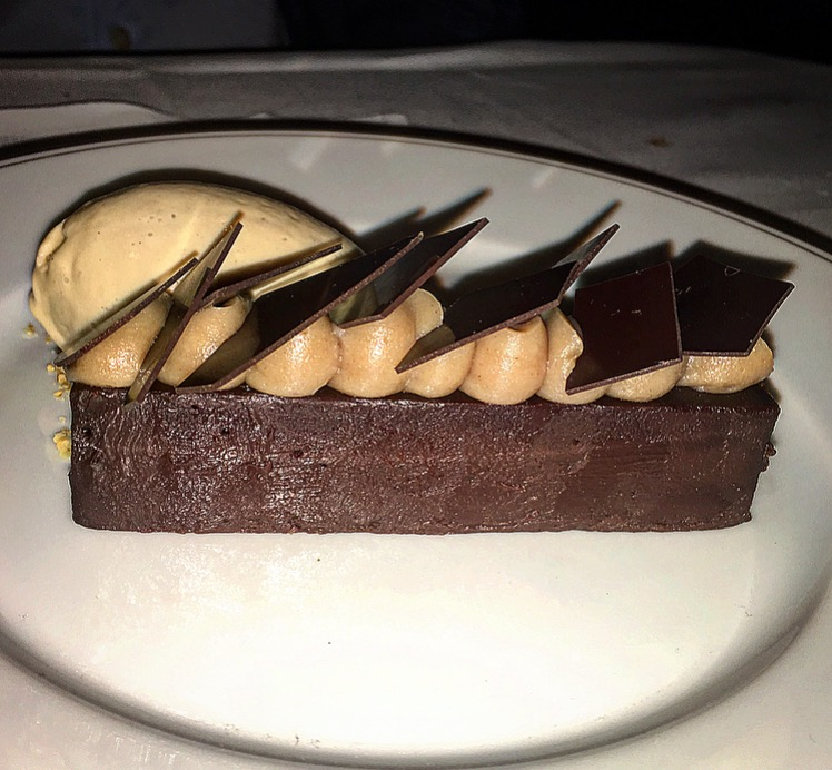 Pave au Chocolat with hazelnut ice cream