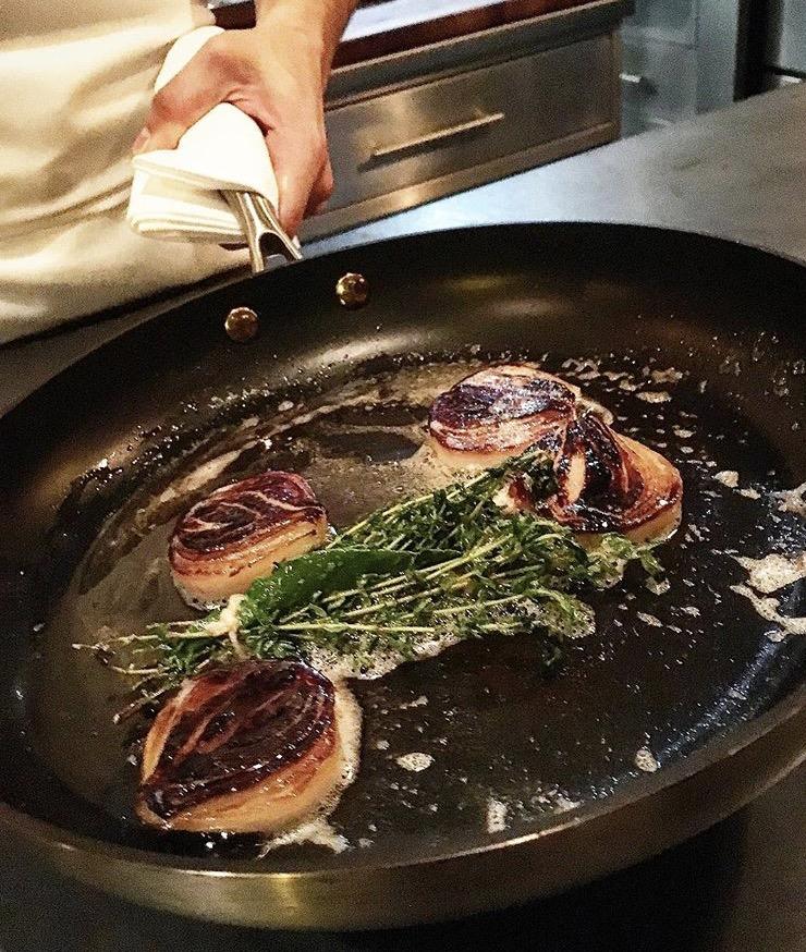 Caramelized Vidalia onion with thyme, Atera