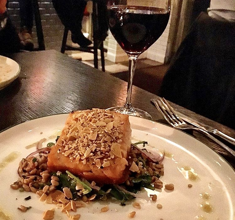 Salmon with Indian spices, Dante