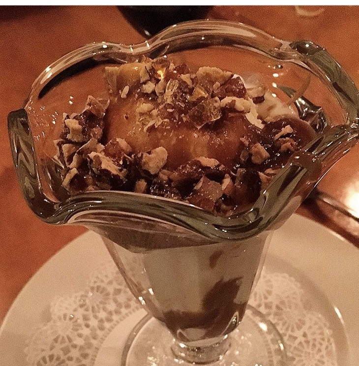 Wishing I were eating this butterscotch parfait right now at Pearls Oyster Bar