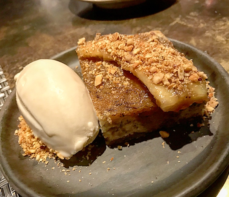 Banana Cake with Caramel ice cream
