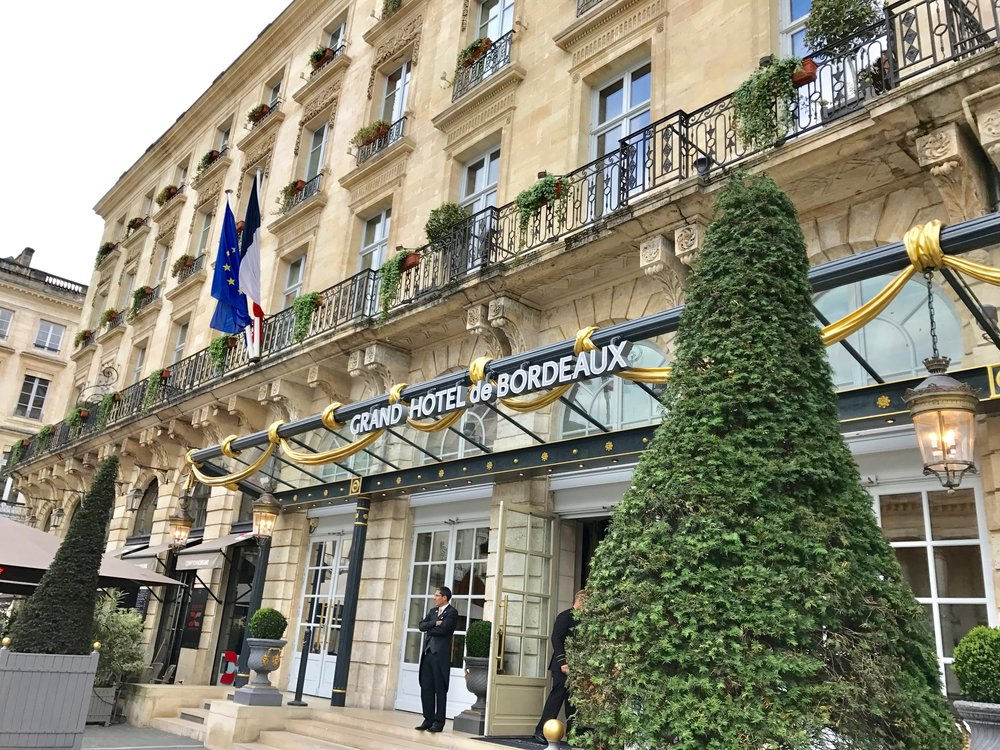 InterContinental Bordeaux - Le Grand Hotel, built in 1789, ten years after The Great Theatre.  The two buldings  face each other and boast  neo-classically inspired facades,