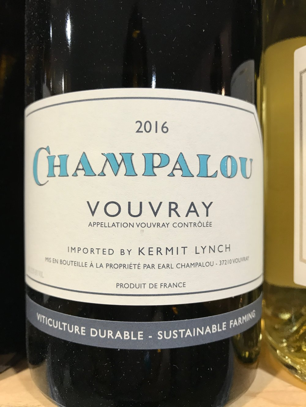 Started in 1983, Champalou has become one of the most acclaimed wineries in Vouvray.  Try this dry Chenin Blanc with the pork dish.