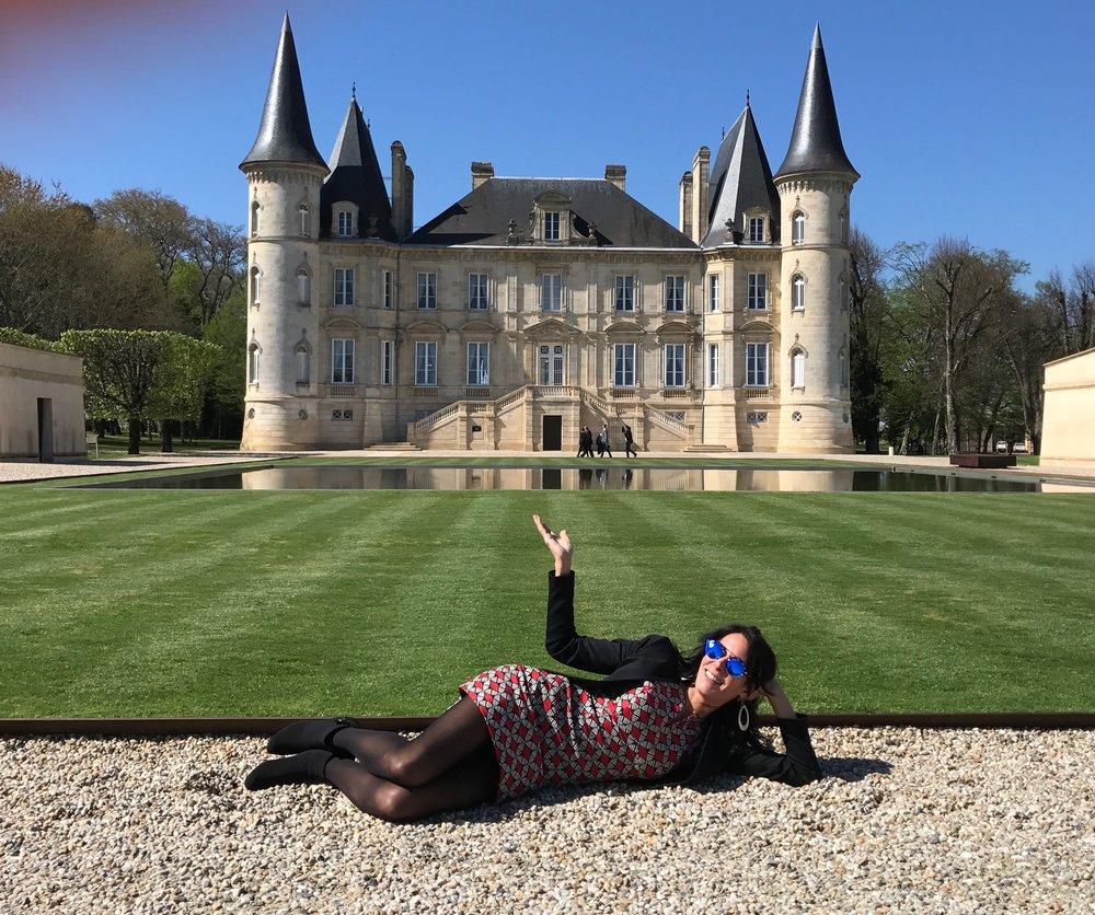 The Wine Chef arrives in Bordeaux!  Chateau Pichon Baron