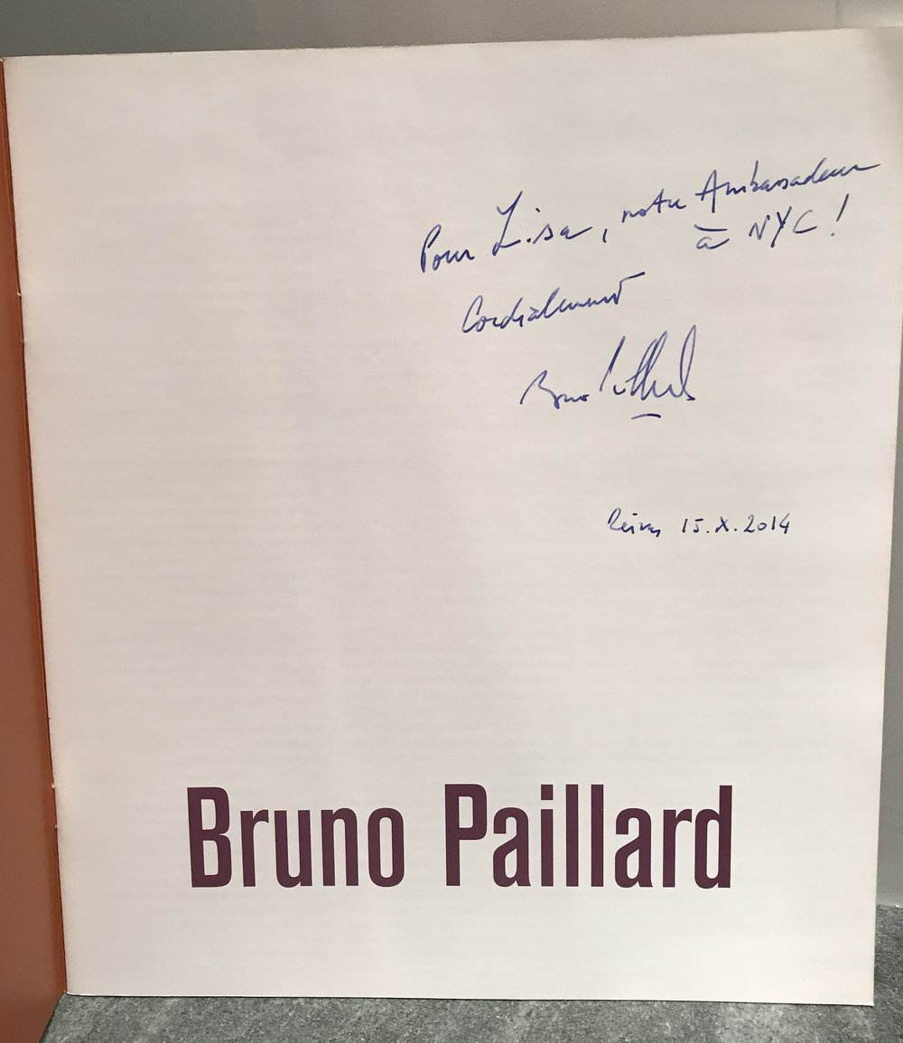 """From my visit to Maison Bruno Paillard, """"For Lisa, Our ambassador in NYC!"""" Reims, October 15, 2014."""