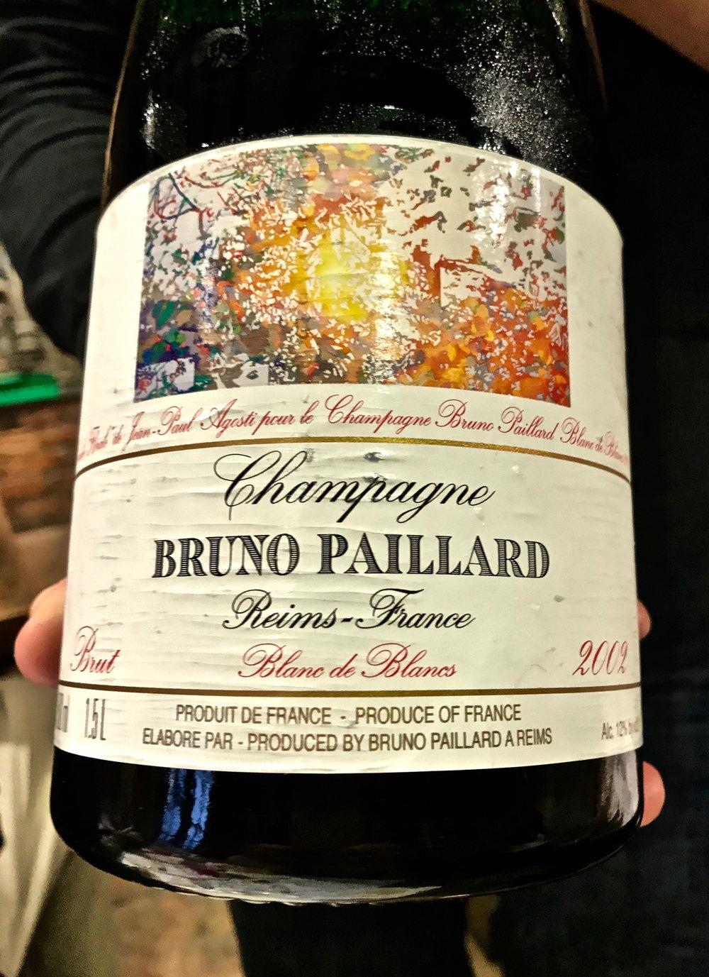 A vintage 2002 Bruno Paillard Blanc de Blancs.