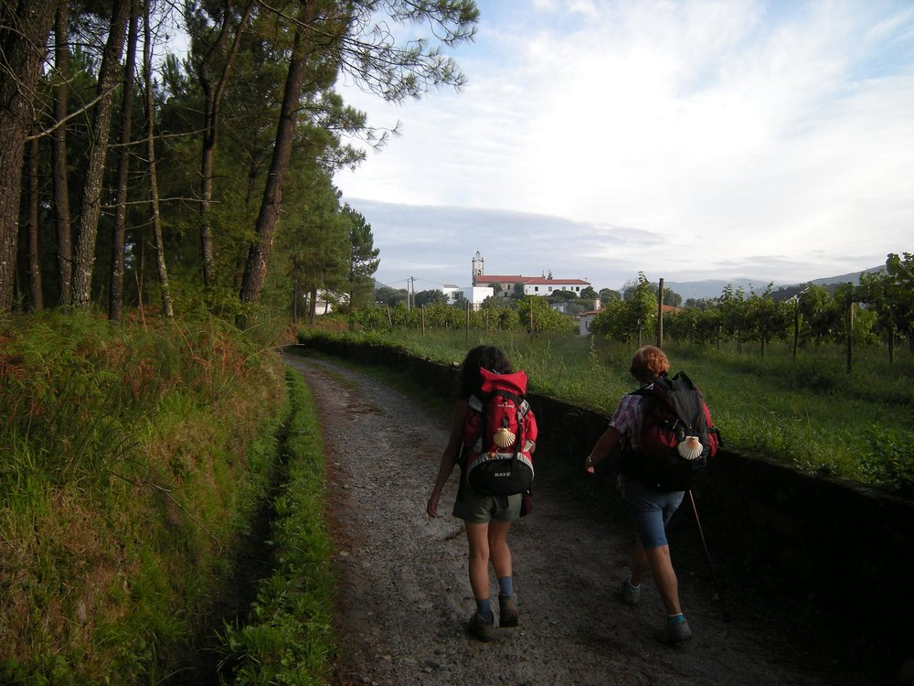 Hiking along the Camino de Santiago
