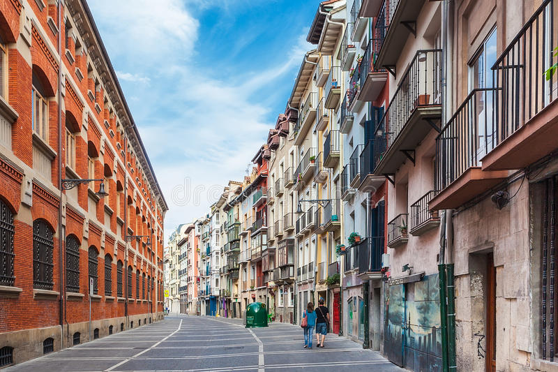 One of many colorful streets of Pamplona