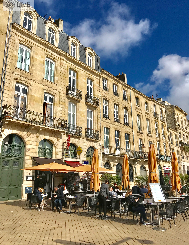 Stop in for a glass of famous Bordeaux wine at one of the many outdoor cafés.