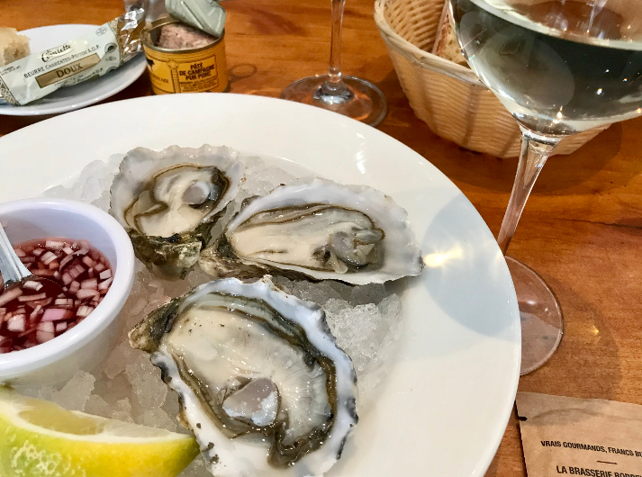 Oysters in Bordeaux come from the cold waters of nearby Arcachon and are so briny and delicious!