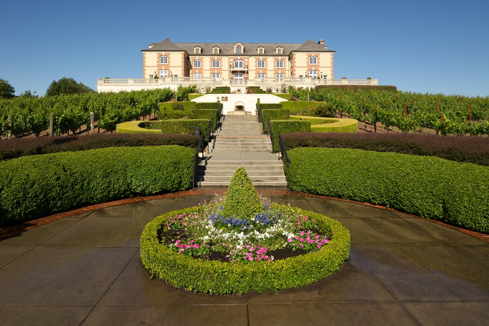 Considered one of the most beautiful wineries in America, Domaine Carneros has stunning grounds and breathtaking views. Photo courtesy of Domaine Carneros.