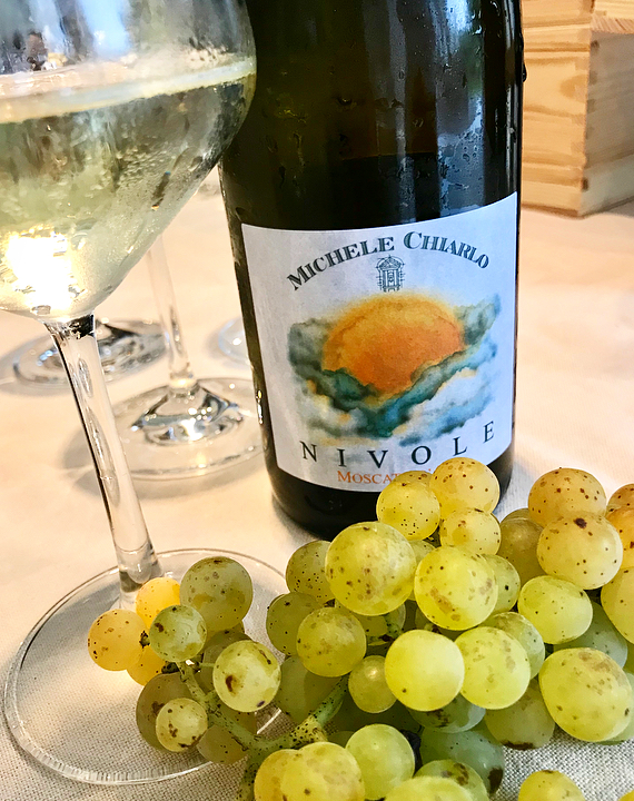 Moscato Bianco grapes grown on the Piemontese hillsides surrounding the town of Asti are used to make Moscato d'Asti.