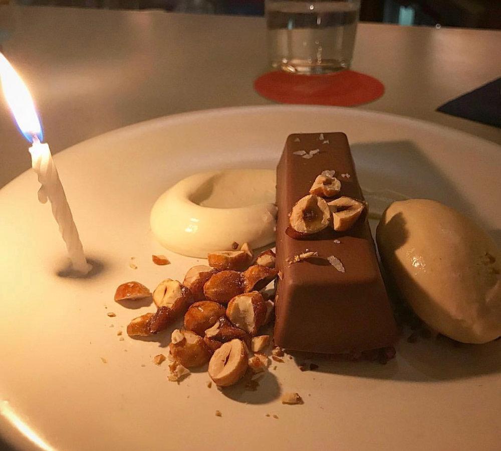 Scampi's chocolate hazelnut budino.