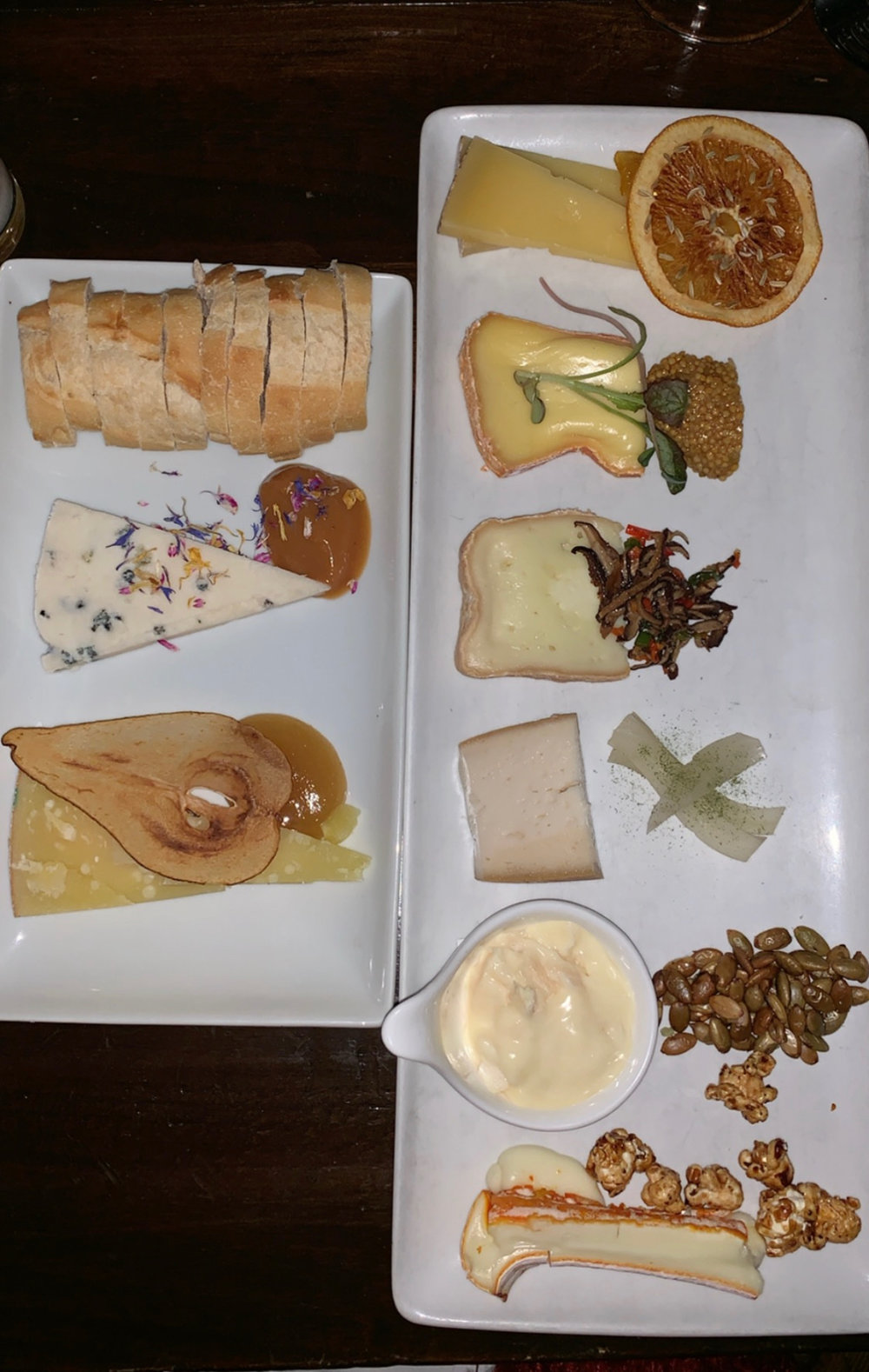 An extravagant cheese flight at Casellula.