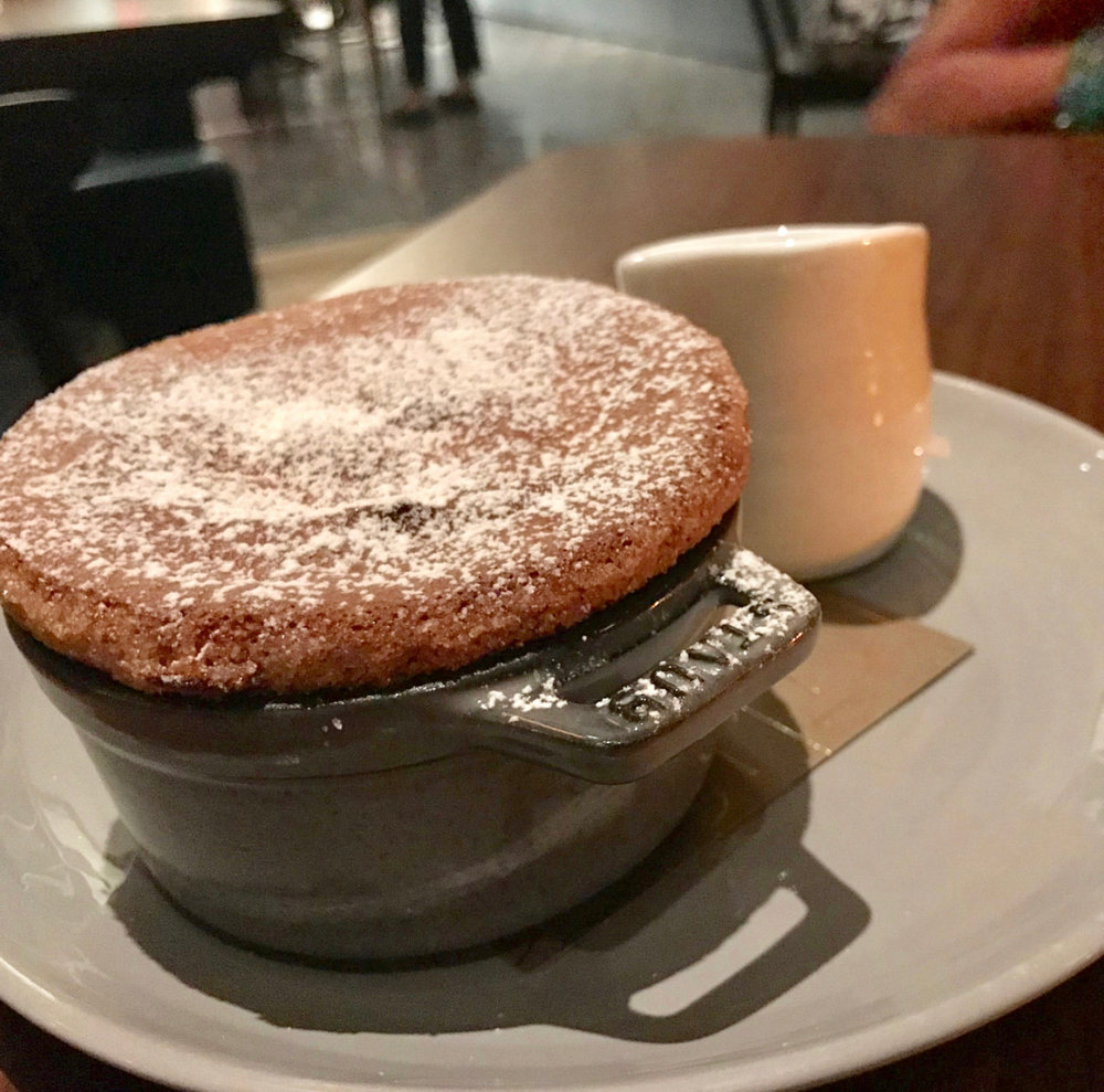 Manhatta's Chocolate soufflé.