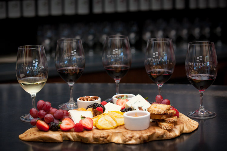 Wine and cheese tasting at Patterson Cellars in Woodinville.