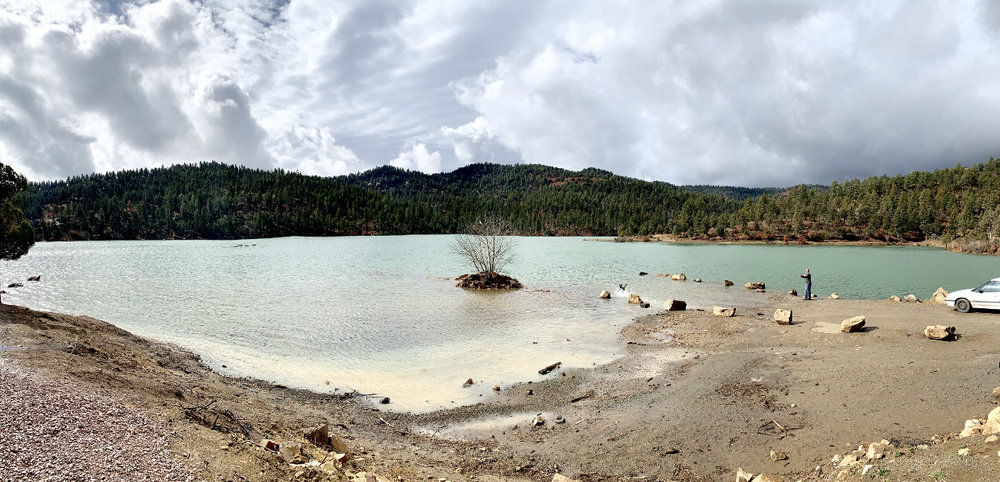 One of several small lakes in Ruidoso where summertime kayaking and picnicing is allowed.