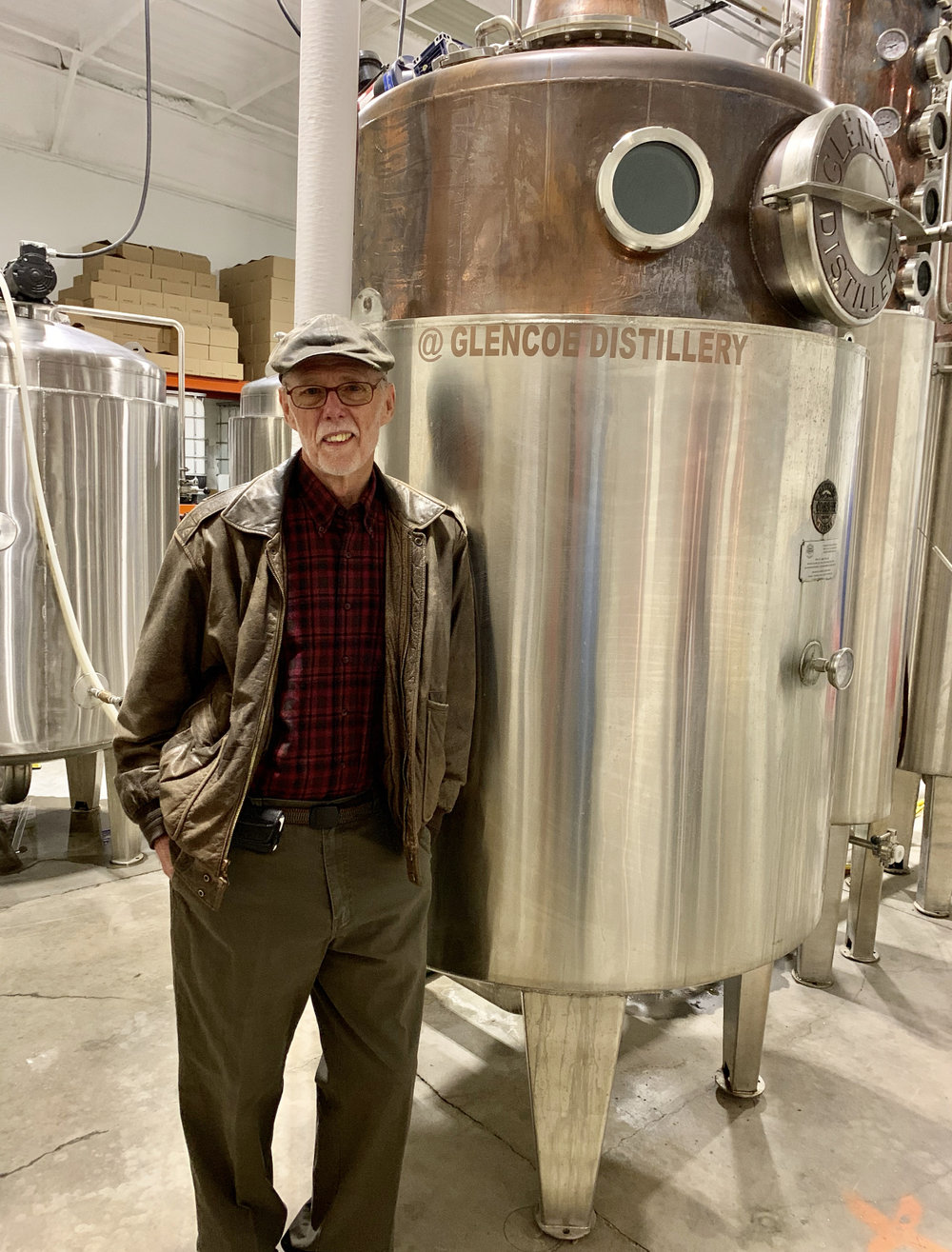 Will Ponder, an owner of Glencoe Distillery