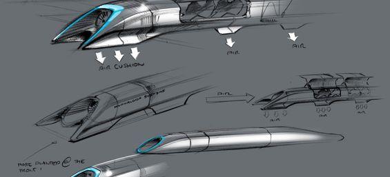 从2012年年底到2013年八月,特斯拉和SpaceX的一组工程师们共同设计了Hyperloop的概念模型