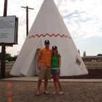 Matt and Lisa in front of our Wigwam teepee- #16
