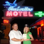 Bill, owner of The Blue Swallow Motel