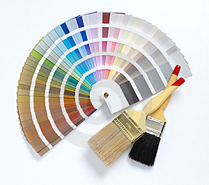 two-paint-brush-and-color-chart-thumb8132608