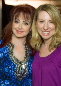 Beth with Naomi Judd, who stars in Nearlyweds!
