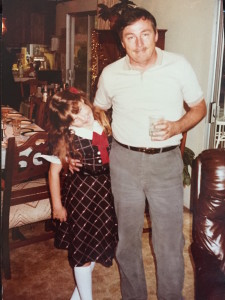 Me and my dad in the early 80s--He really rocked that Magnum PI stache!