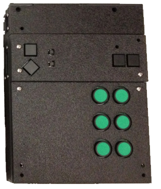 The Stand-Alone Braille Tutor: the newer and more popular model of the braille tutor device. Battery powered with an audio jack for external speakers.