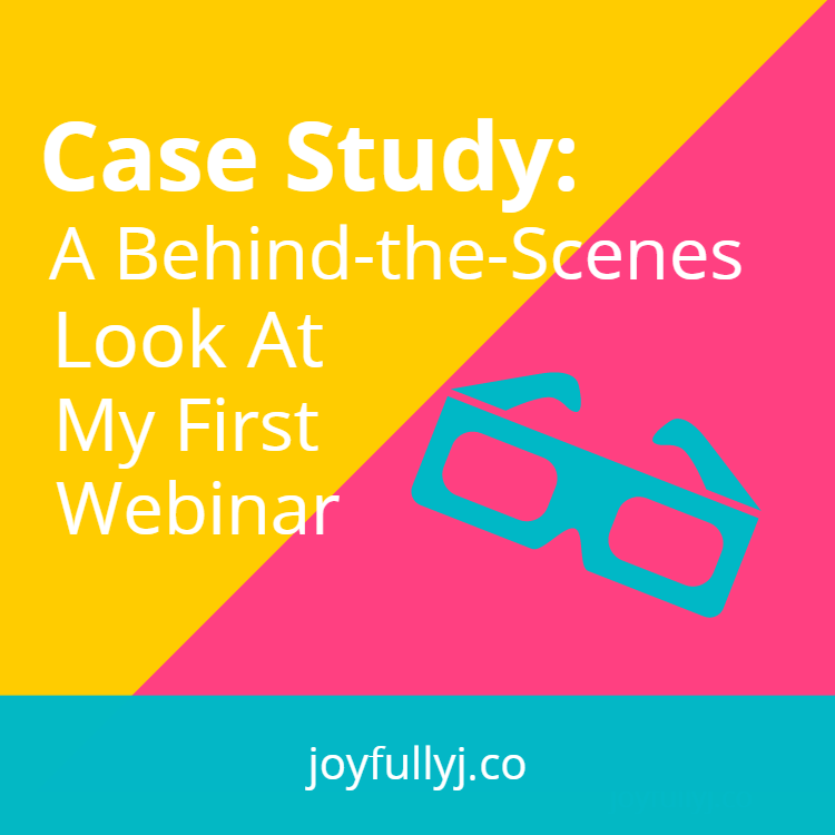 case study a behind the scenes look at my first webinar