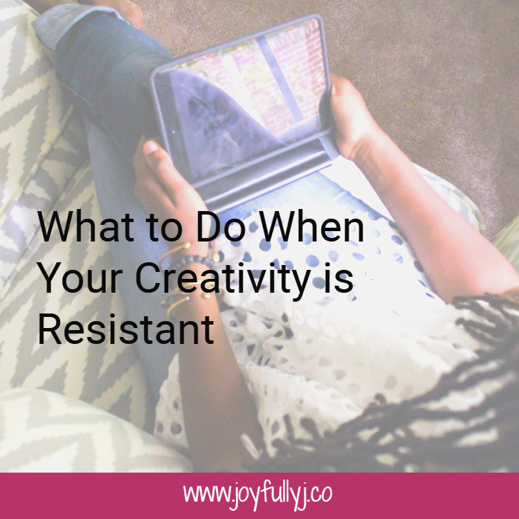 We need to learn to respect the process and grant our creativity the ability to bloom when she wants.