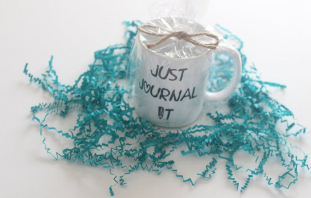 just journal it pencil mug