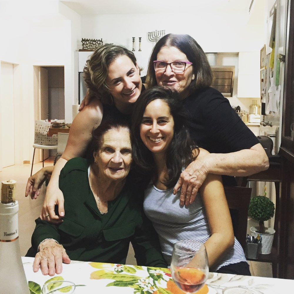 #surprisingSafta is probably the best thing I've done this year. Thanks to my cousin Inbal for coordinating everything and my aunt Miriam for taking me in without fair warning and preparing a memorable Friday night dinner with Safta.