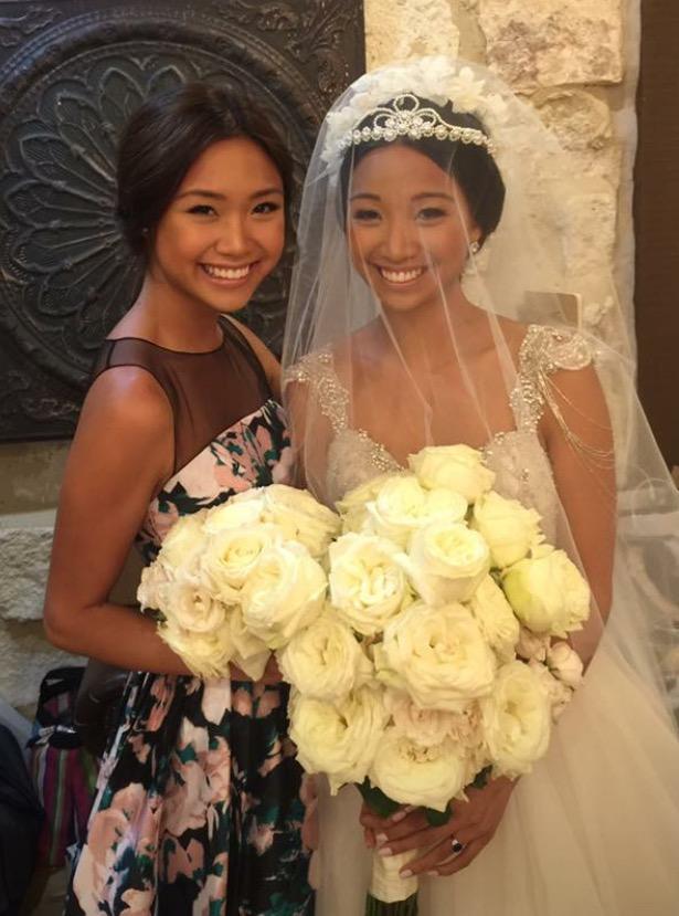 Bianca Diwa with newlywed big-sister Nika