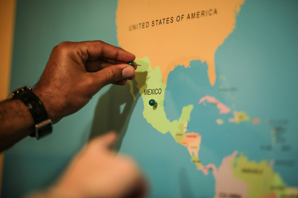 Residents document their journeys to the United States.