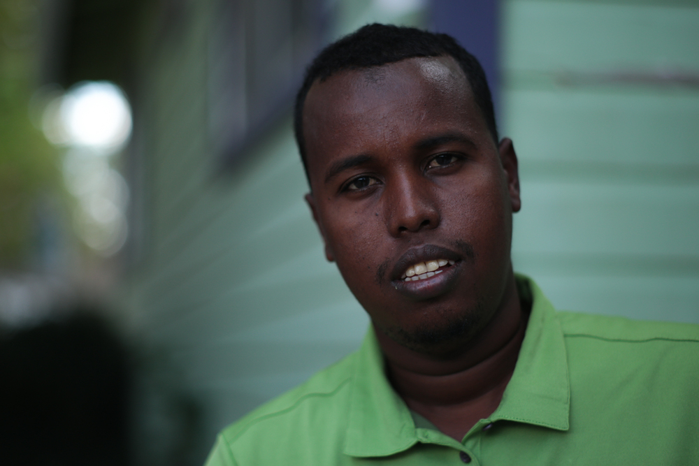 Ahmed, a former accountant from Somalia.