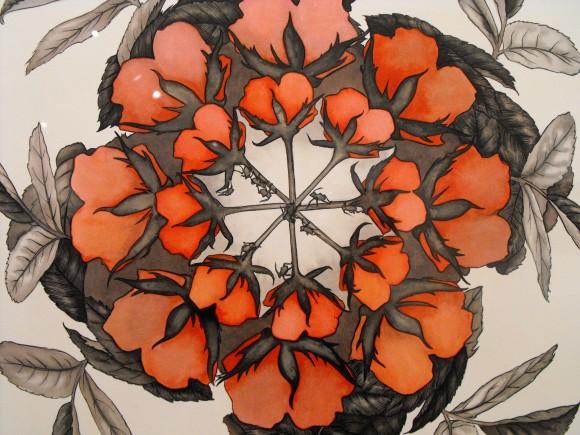 Rose Pinwheel Study