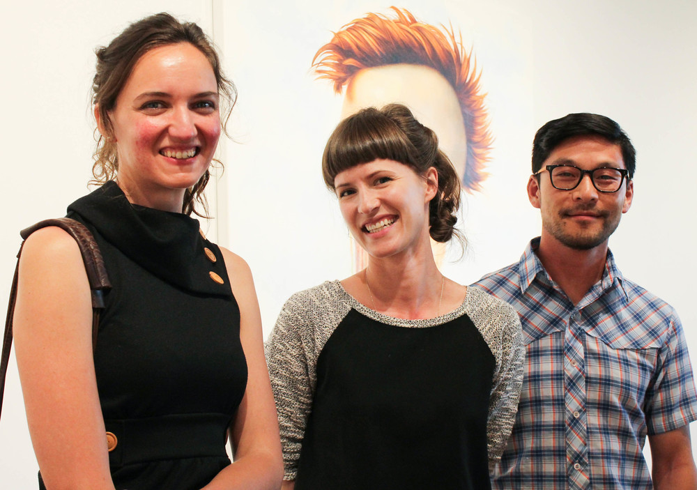 Artist Aubrey Hillman, Courtney Kemp, and Artist Mako Miyamoto
