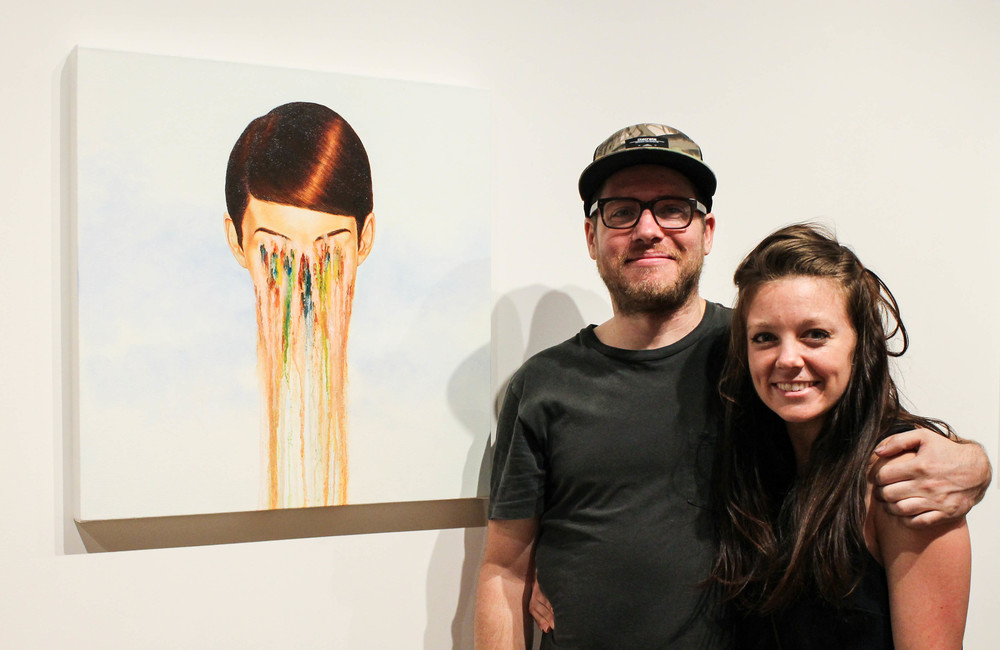 Artist David Rice and Meghan Lee