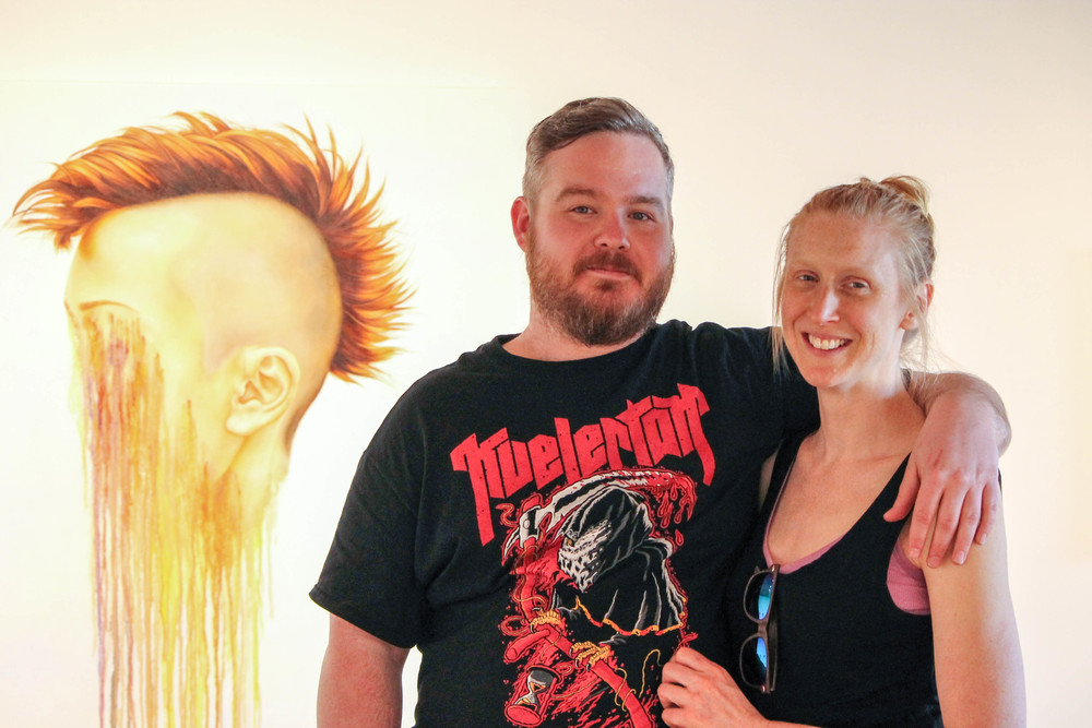 Artists Brian Donnelly and Marnie White